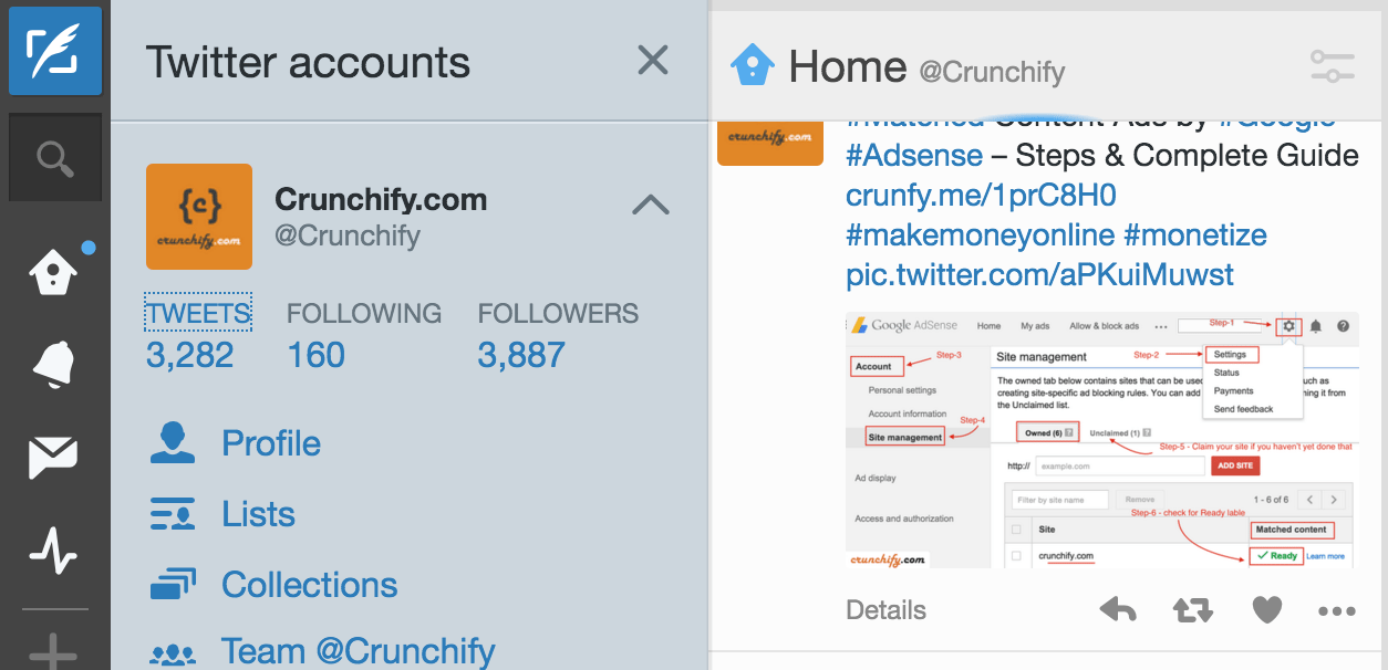 Crunchify - TweetDeck Twitter Account