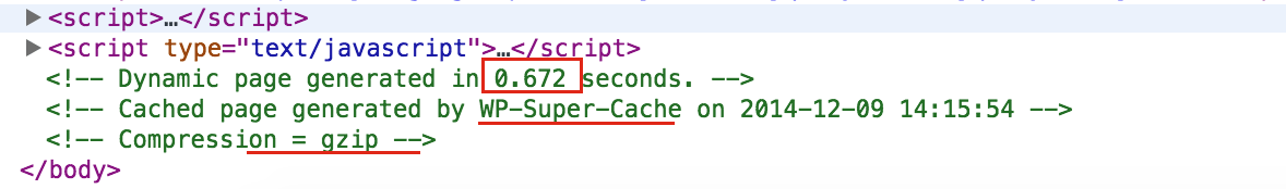 WP Super Cache Caching