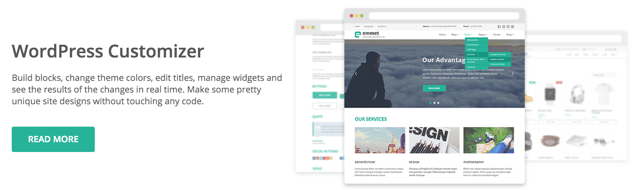 Emmet Lite WordPress Theme for Begineer