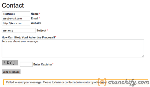Contact Form 7 - How to Fix Error - Failed to Send your Message ...