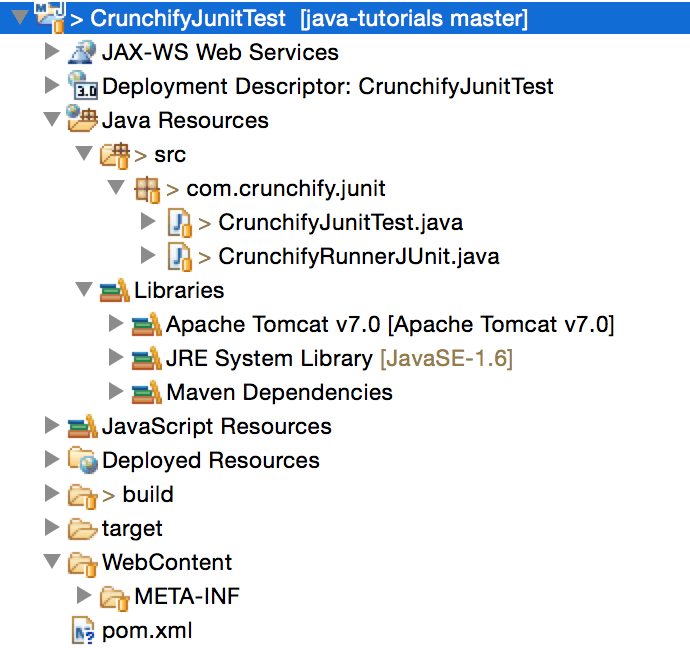 Crunchify JUnit Project Eclipse Structure
