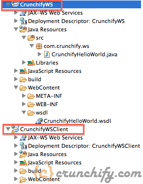 Crunchify Web Services - Project Structure