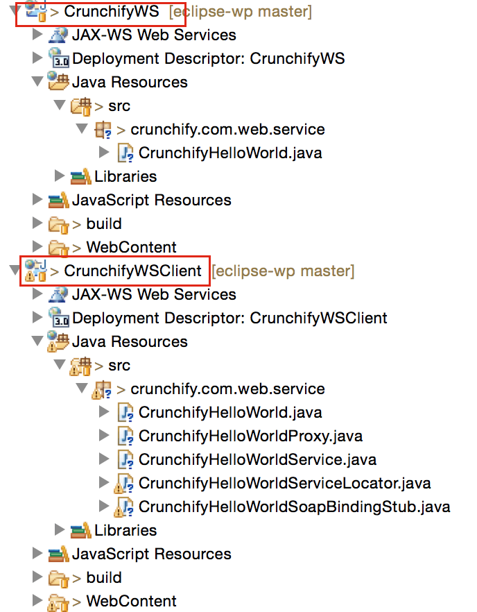 writing webservices in java eclipse