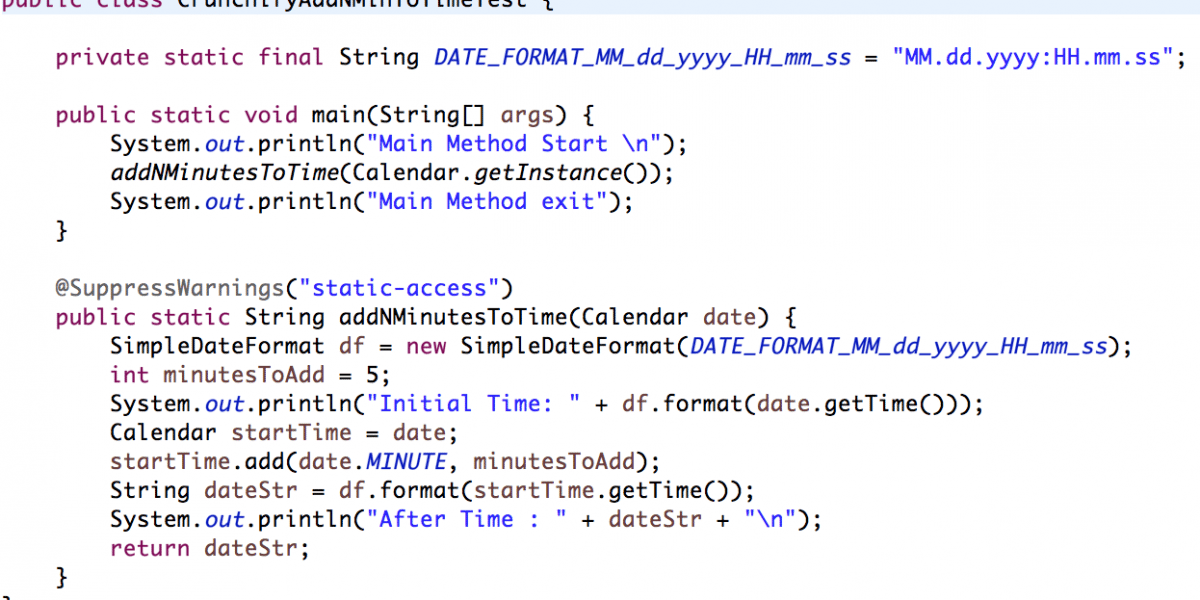"""Java: How to add """"n"""" minutes to Calendar data object?"""
