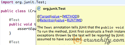 org.junit.Test package