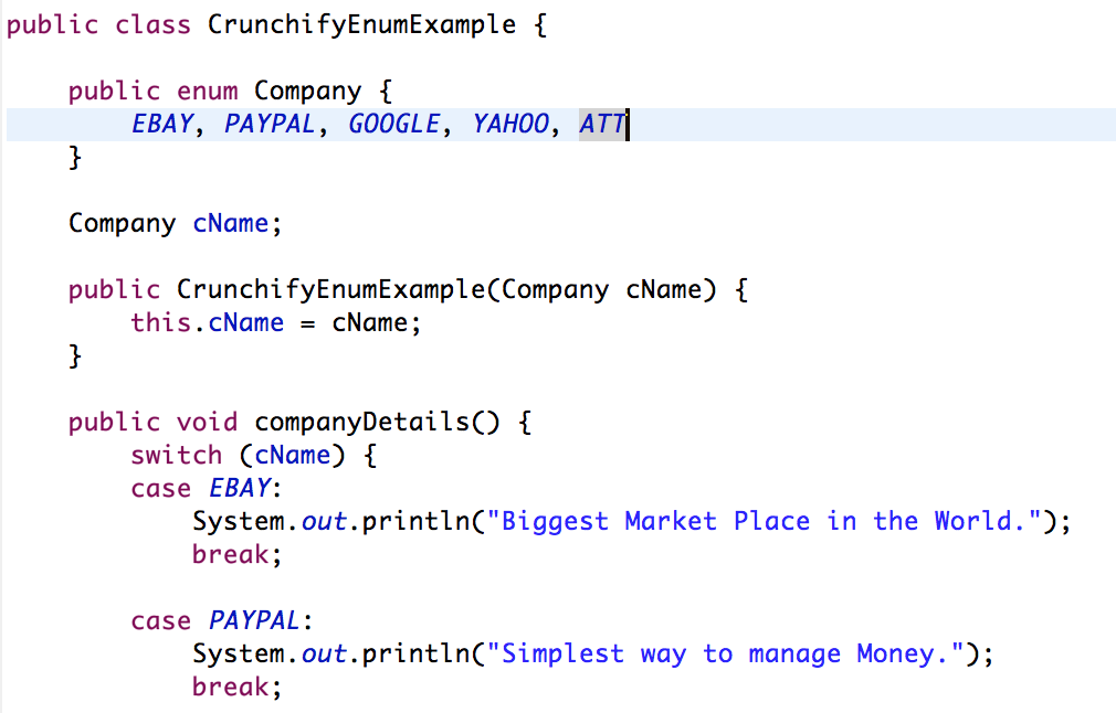 Crunchify Enum Example - Java by Crunchify