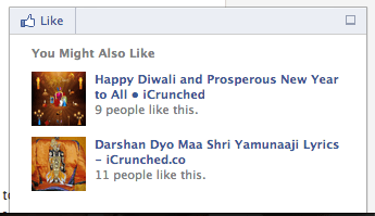Facebook Recommendation Bar - Sample Example - Crunchify