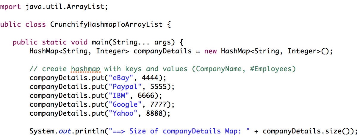 How to convert HashMap to ArrayList in Java?