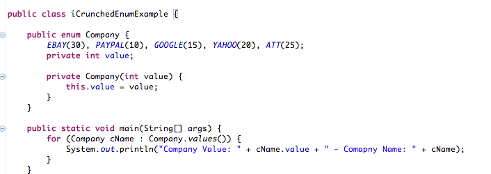 Java Enum Examples - Crunchify Code