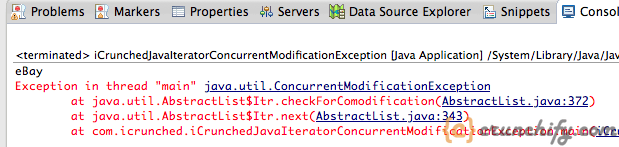 Java Iterator ConcurrentModificationException