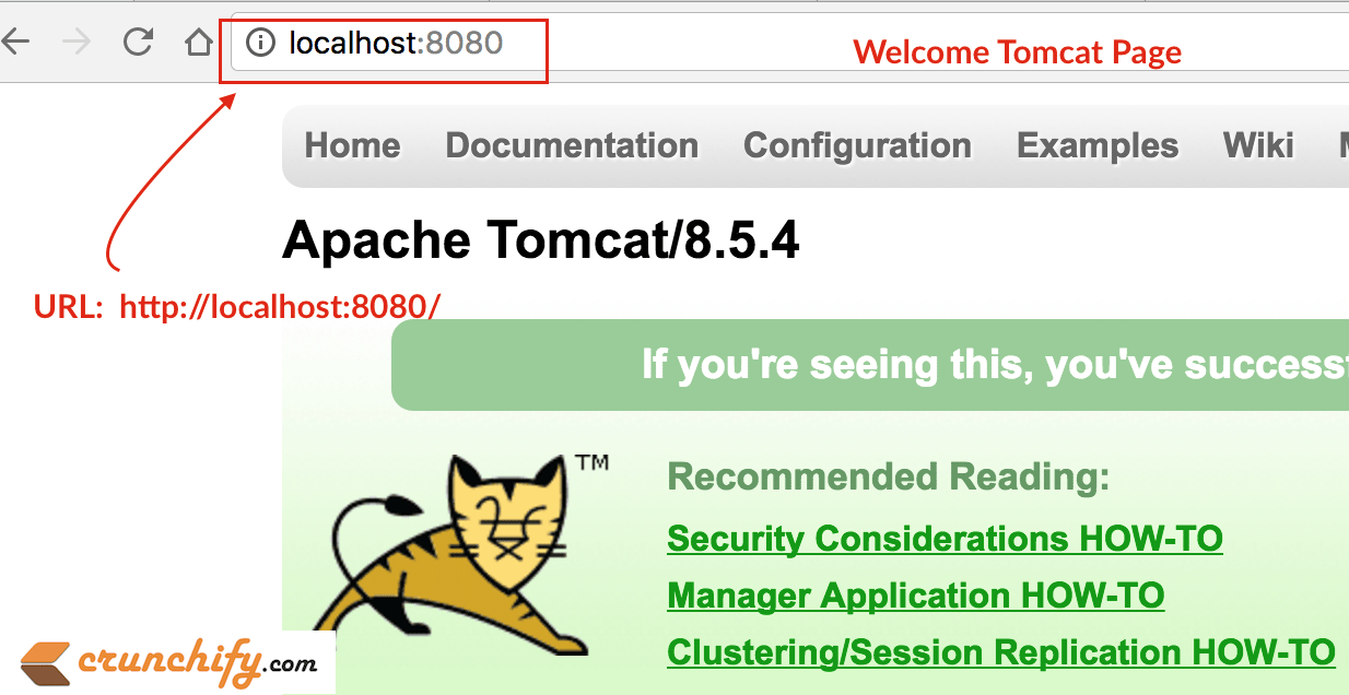 Welcome Tomcat Page - Crunchify
