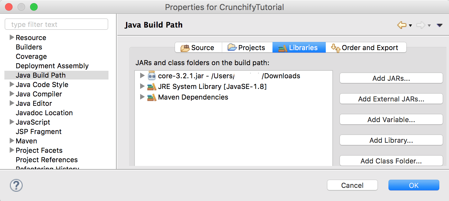 How to add .jar file to Project Build Path in Eclipse - Crunchify Tips