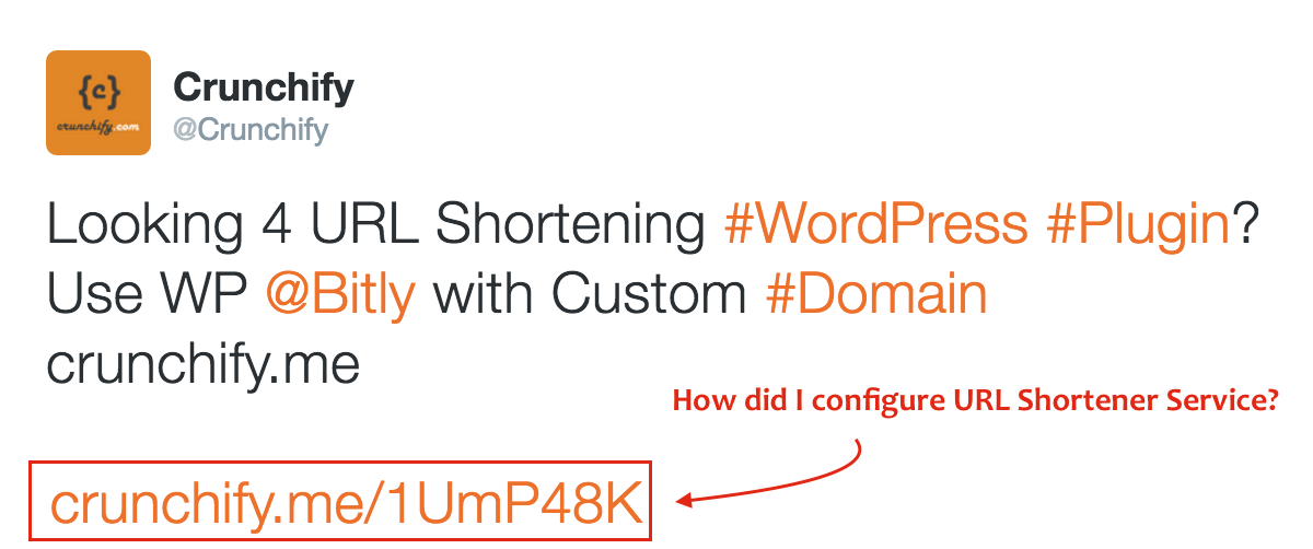How did I configure URL Shortener Service on Crunchify.com? Bitly, Domain and WordPress Setup Steps