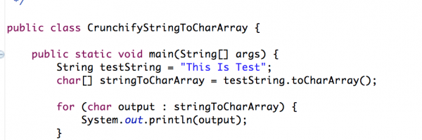 Java: Simple way to convert String to Char Array