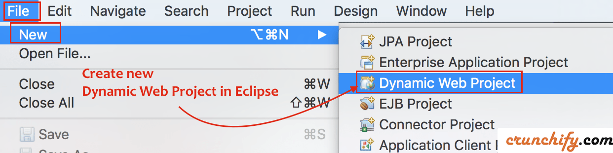 Create New Dynamic Web Project in Eclipse Environment - Crunchify Tips