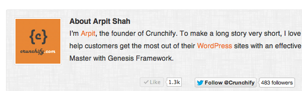 Crunchify About Me redirect to About Page