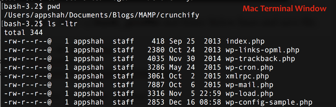 Crunchify MAMP File Directory Structure