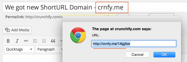 We got new ShortURL Domain – crunchify.me