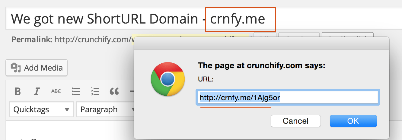 Crunchify.com short domain URL - crnfy.me