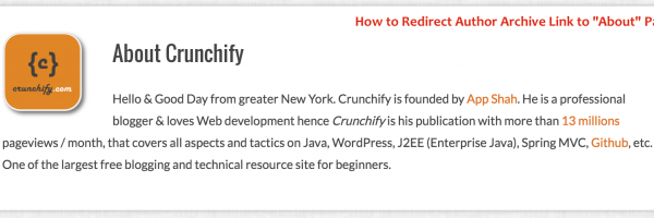 WordPress: How to Redirect Author Archive Link to About Page