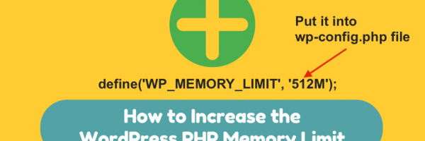 The easiest way to increase WordPress memory limit