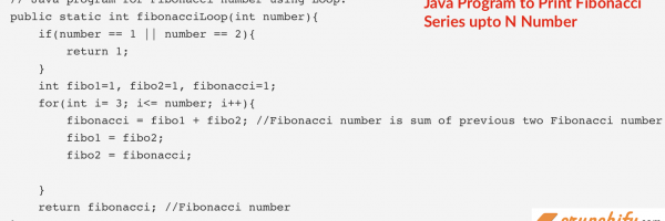 Write Java Program to Print Fibonacci Series upto N Number