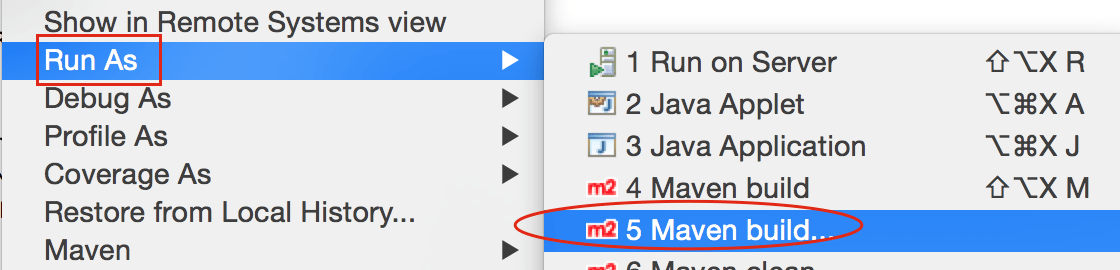 Maven Run-as - Maven Build in Eclipse IDE