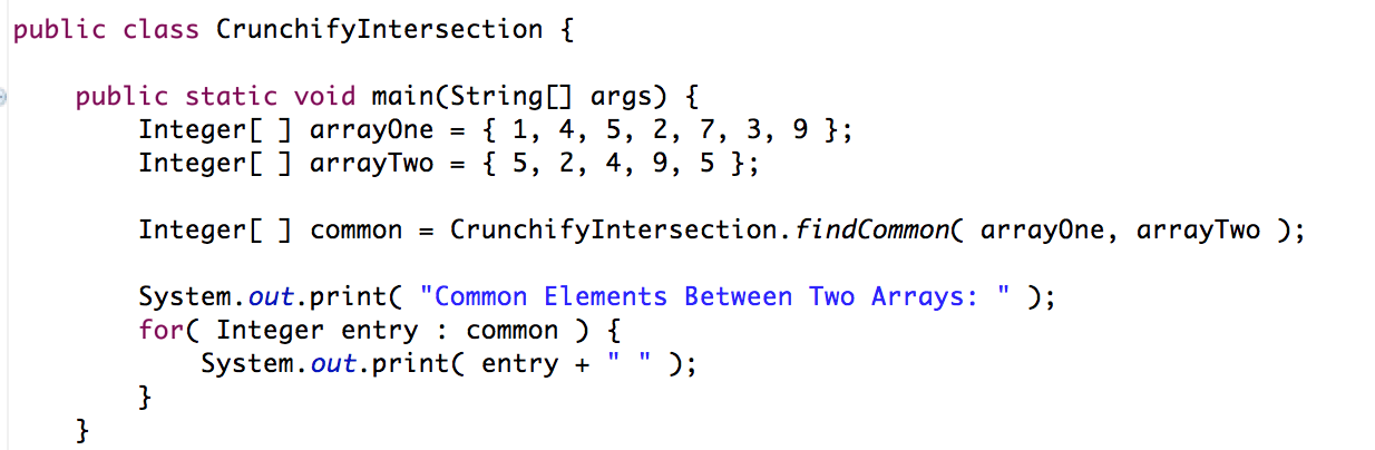 Sort Two UnSorted Array - Crunchify Tutorial