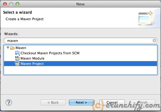 1 - Choose Maven Project in Eclipse