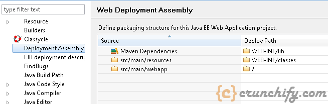 8 - Maven Dependancies in Web Deploymnet Assembly