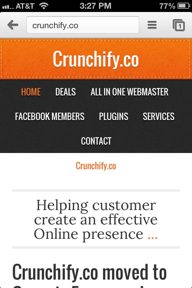 Crunchify Mobile Theme