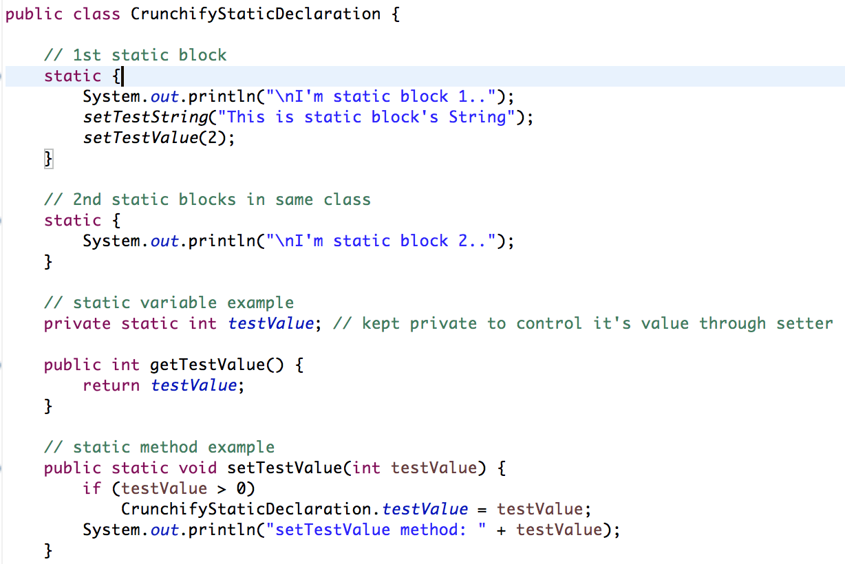 assign string to string java