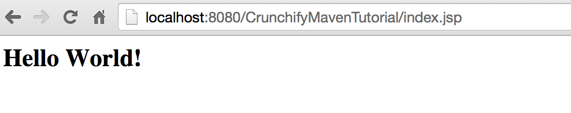 CrunchifyMavenTutorial Web Result