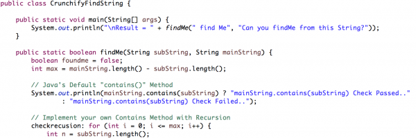 Java: How to Check if a String Contains a Substring? Implement Your Own Method