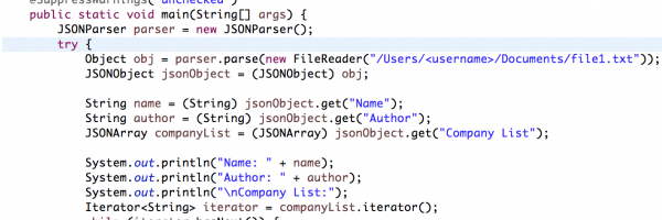 How to Read JSON Object From File in Java – Crunchify Tutorial