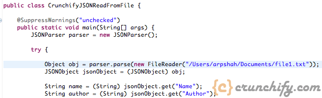 Java Read JSON from File - Crunchify