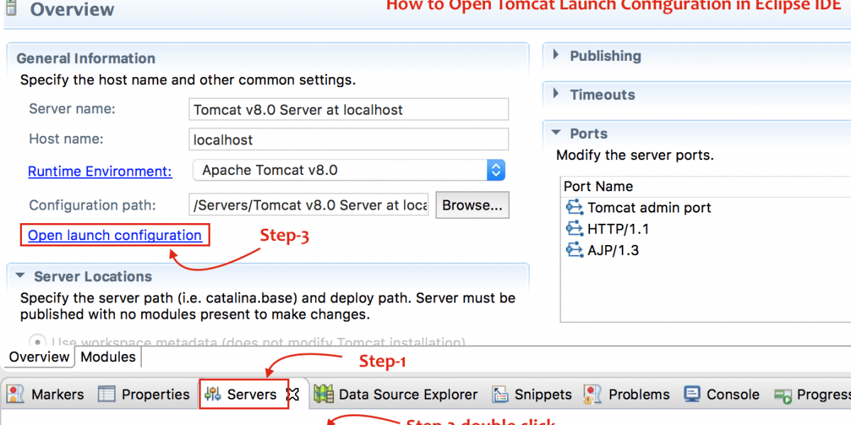 How to Increase Apache Tomcat HeapSize (JVM Heap) in Eclipse IDE (integrated development environment) to Avoid OutOfMemory