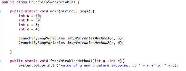 Java Swap Variable without Temp