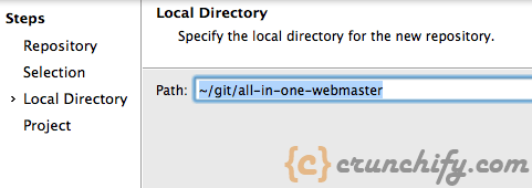 Select Local repository