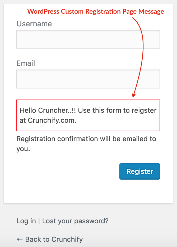 wordpress-custom-registration-page-message-crunchify-tips