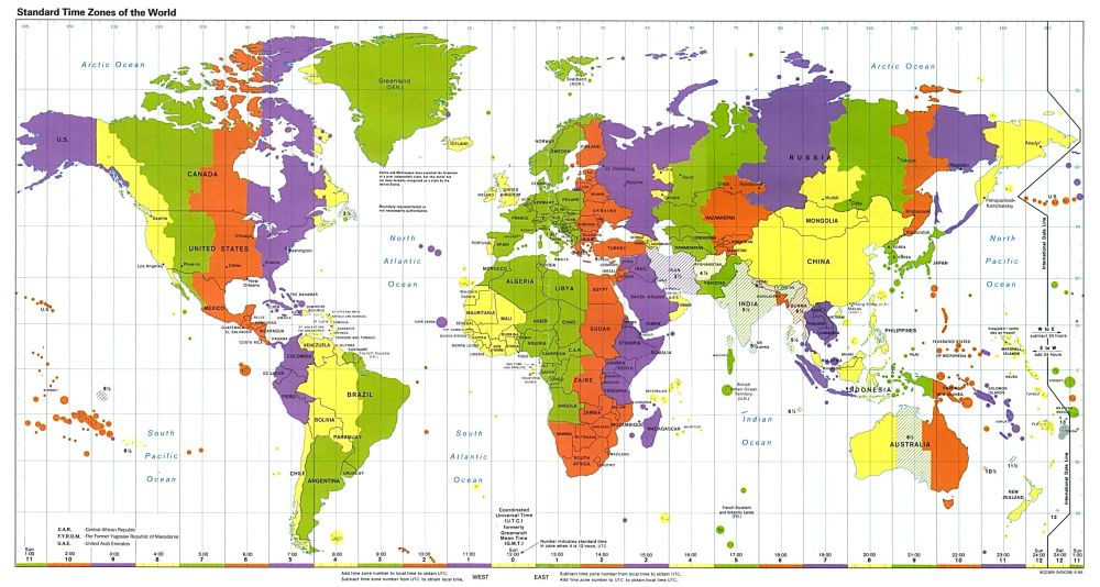 timezone.map - Crunchify