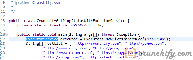 ExecutorService Approach by Crunchify