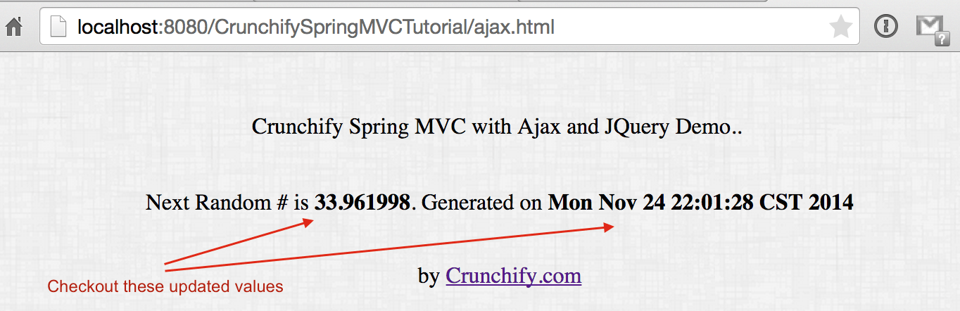 Checkout Ajax and JSP result on browser