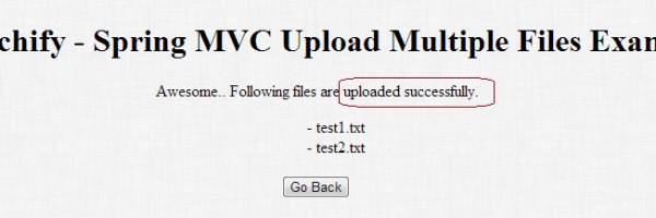 Spring MVC Tutorial: How to Upload Multiple Files to Specific Location