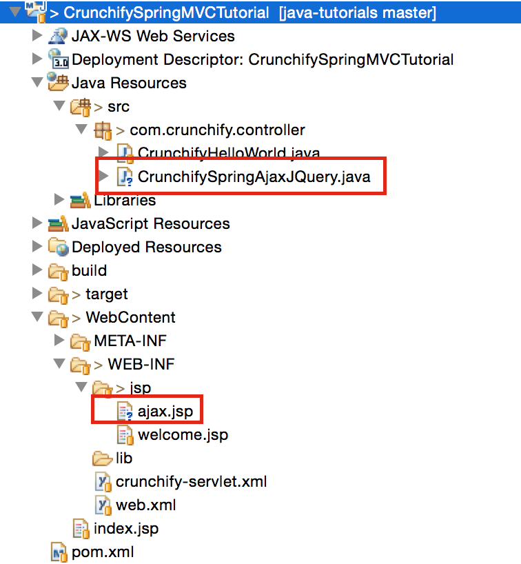 Crunchify Spring MVC tutorial with Ajax and JSP