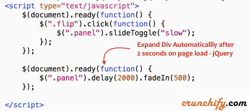 Expand Div Automaticallly after 2 seconds on page load - jQuery
