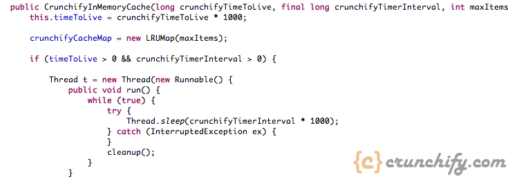 Java In Memory Cache Example By Crunchify