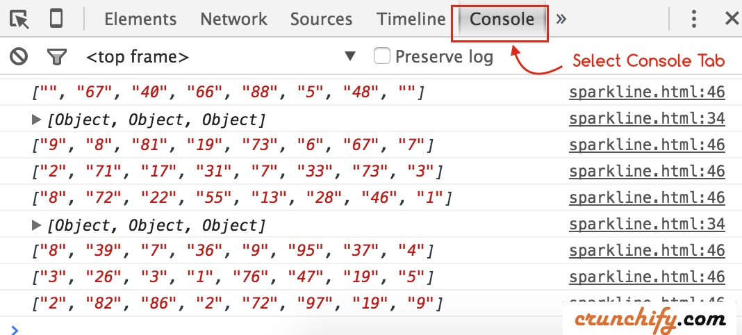 Spring MVC live data comint to Chrome Browser - Crunchify Tips