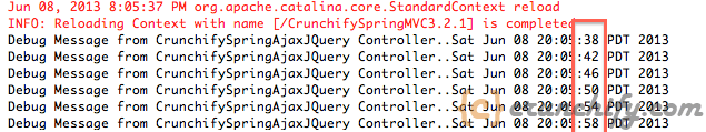 Spring MVC with JQuery And AJAX Debugging
