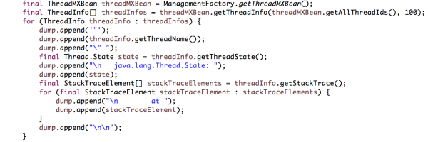 How to Generate Java Thread Dump Programmatically